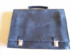 Fekete műbőr Irattáska irattartó táska, Fekete akta táska, Férfi táska