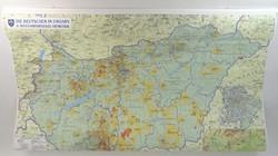 0P179 Magyarországi németek térkép 73 x 109 cm