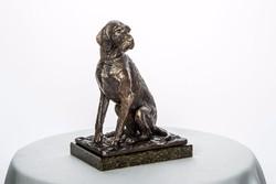 Drótszőrű Magyar Vizsla bronz szobor