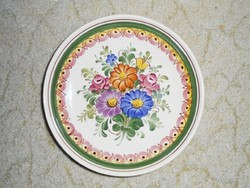 Osztrák kerámia tányér - Wechsler Tirolkeramik Austria - kézzel festett, virág mintás
