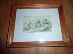 Opatija, akvarell 1988-ból, jelzés nélkül