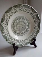 ARABESZK mintás ,csipkézett,rozettás,apró virágos jelzett kerámia mély tányér-24 cm