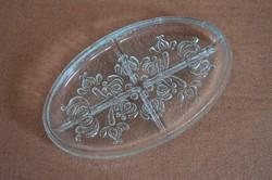 Szép Ovális alakú Üveg Asztalközép/ Hidegtál Kínáló