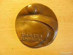 Békéscsaba 1944-1974  bronz plakett