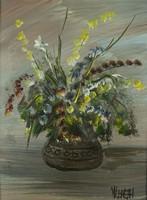 0P266 Németh jelzéssel : Virágcsokor vázában