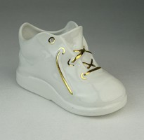 0P284 Régi Aquincum porcelán kiscipő cipő