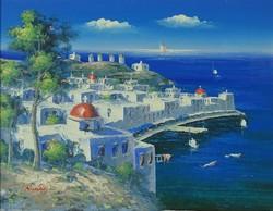 0P678 Nicolaoy jelzéssel : Görög Santorini szigete