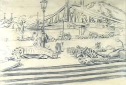 Magyar festő 1900 körül : Fővámtéri piac
