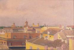 Magyar festő, XX. század közepe : Látkép