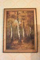 Gottwald: őszi erdő Pál László hangulatú olaj vászon  70x53