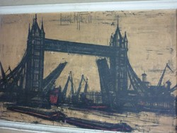 Bernard Buffet - London Bridge , 1960