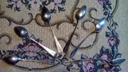 1838, J. Pasperger , antik ezüst teáskanál készlet, 6 db,