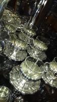 Ezüst hólyagos kávéscsésze készlet 6 fő részére