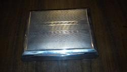 Ezüst gilosált fabetétes doboz