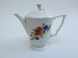 Zsolnay porcelán mezeivirágos kávés kiöntő kanna 1 db