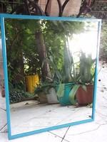 Retro Kék keretes tükör 60x50 cm