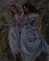 Moona - Séta a völgyben ANNA RAZAMUSKAYA festmény MESTERMÁSOLATA