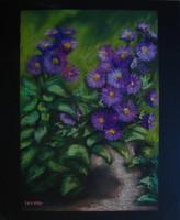 Moona - Őszirózsák EREDETI Moona festmény