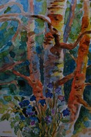 Moona - Erdő mélyén harangvirág EREDETI Moona festmény