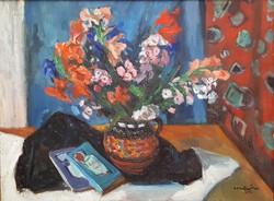 Szentgyörgyi Kornél 1959 / Színes virágcsendélet