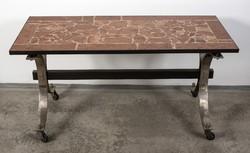 Retro márványlapos asztal