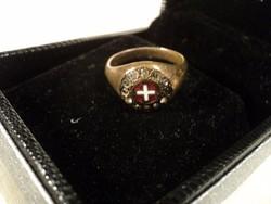Igazi ritkaság I. világháborús patrióta gyűrű, relikvia