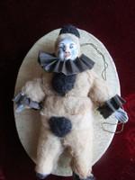 Antik PAPÍRMASÉ karácsonyfadísz BOHÓC eredeti doboz MUZEÁLIS 1908 KUK KIRÁLY UDVARI SZÁLLÍTÓ