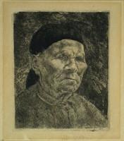 Szőnyi István : Idős asszony portréja