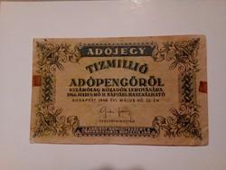 1946-os 10 Millió Adópengő EF
