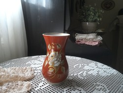 Váza, jelzett porcelán