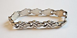 19,2 cm. hosszú ezüst széles karkötő