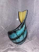 RETRO  - Luria Vilma különleges alakúra csavart  kerámiája :  kínáló ,váza, asztali dísz, dísztárgy