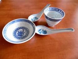 Kínai porcelán virágos készlet
