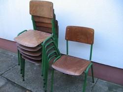 6 db retro csővázas, hajlított lemez ,iskolai szék