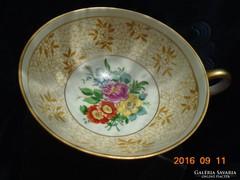 SCHAUBACH KUNST-látványos,kézzel festett teás csésze 11x5 cm