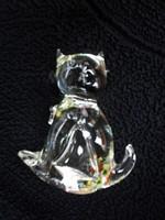 Gyönyörű kristály üveg cica figura