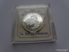 Barack Obama Tiszta Ezüst Nobel Proff. érme 1/4 Ounce RRR!!!