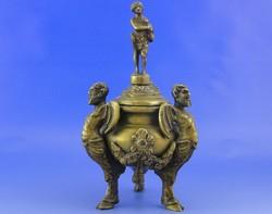S496 Antik bronz tömjén tartó 1820-50 közötti