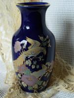 Heisen Japán kézzel festett  váza, paradicsommadár