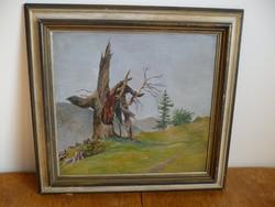 Karl Eisenmenger osztrák festő egyik tájképe