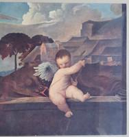 Tiziano: Amor, mérete a nyomatnak:16cmX17cm,a keret sérült! a nyomatot uj paszpartuba kell helyezni!