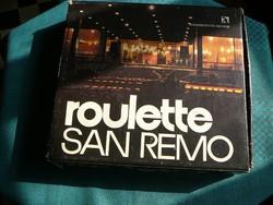 SAN REMO  retró rulett társasjáték