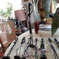 Kenyai maszáj törzsi ébenfa szobrok 30-35cm