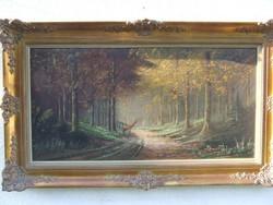 Erdő szarvassal vászon