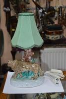 Kerámia oroszlános asztali lámpa