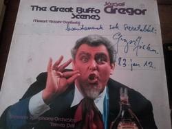 GREGOR JÓZSEF 1983-ban dedikált bakelit lemeze