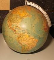 Hiányos földgömb RÁTH 1986 . kERÜLET 105 CM. Átmérő 33 cm. Tartó nékül.