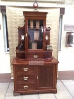 Antik bútor, Neóbarokk könyvszekrény, tálalószekrény.