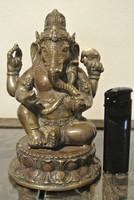 Antik bronz Ganésa szobor 600g