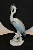 Kócsag Ens porcelán 24 cm